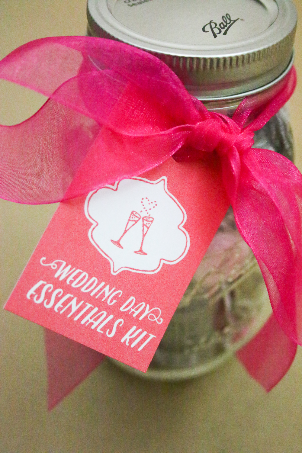 Mason Jar Gift Ideas - Wedding Emergency Kit