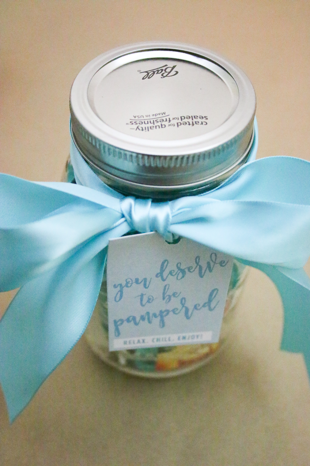 Mason Jar Gift Ideas - Mason Jar Spa Kit