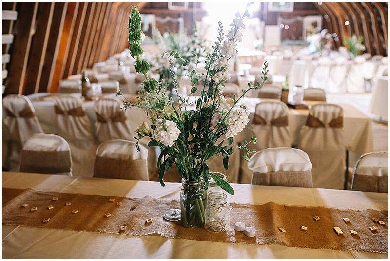 white rustic wedding decor