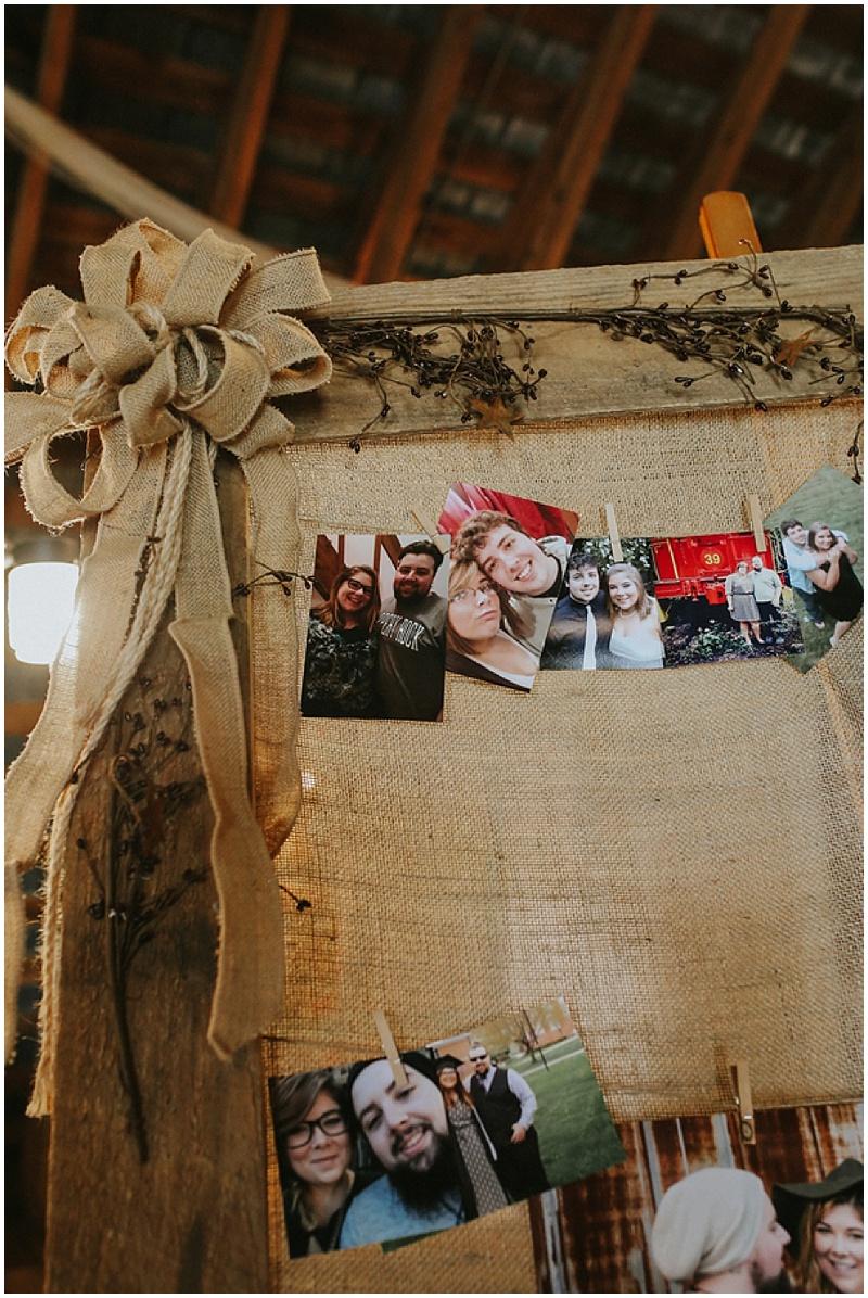wedding photos display