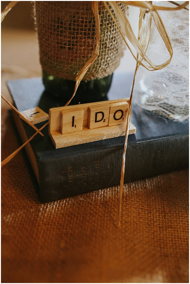 scrabble wedding decor