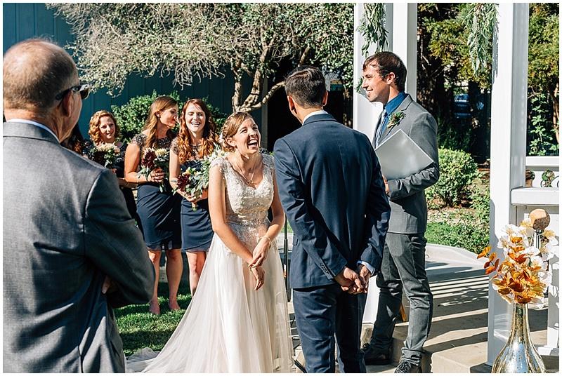 outdoor wedding ceremony