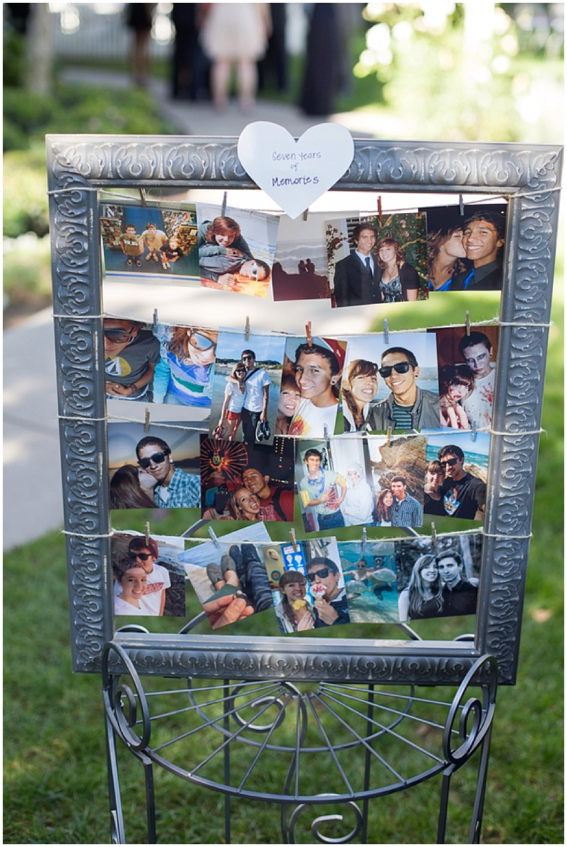 wedding photo decor