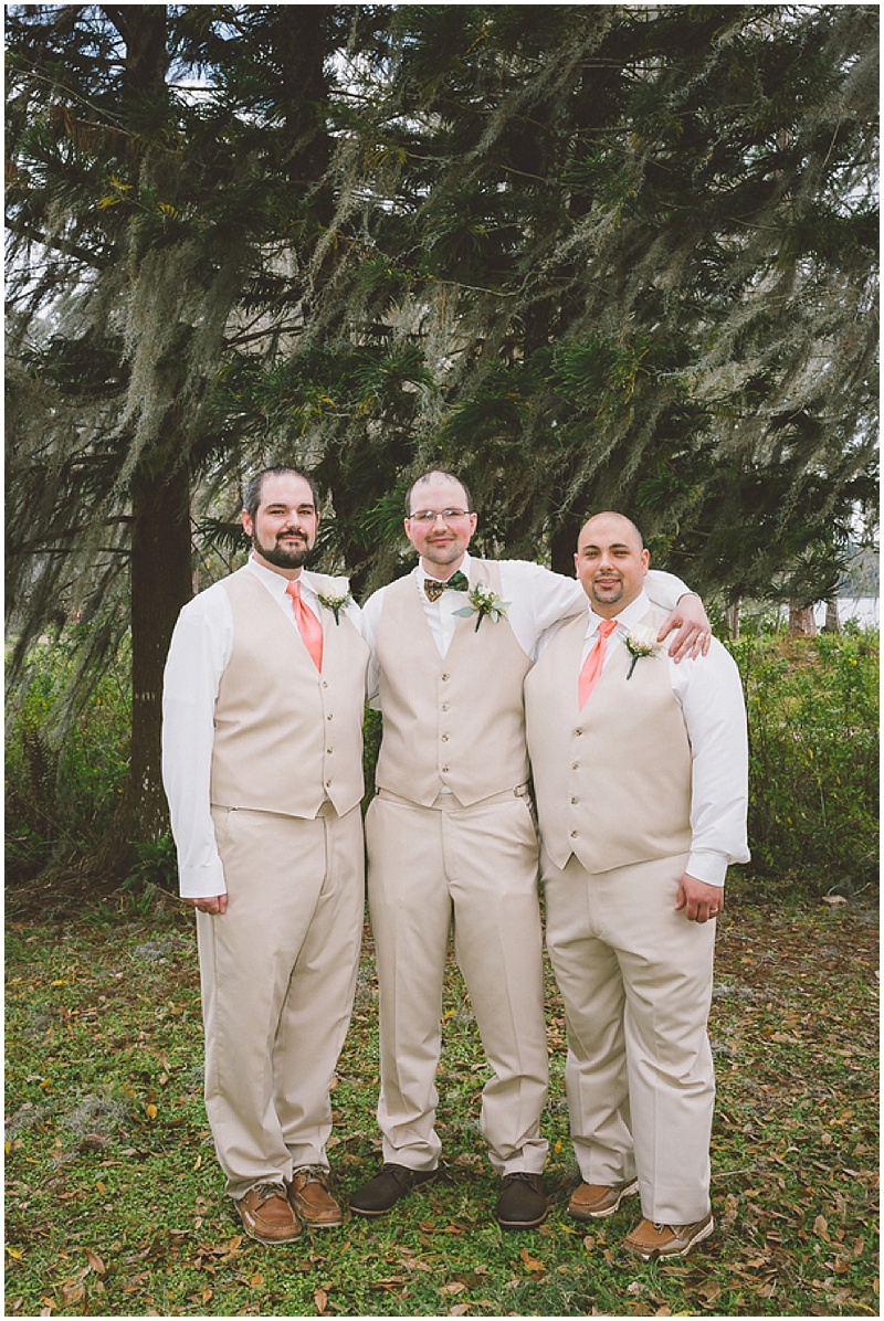 khaki wedding attire