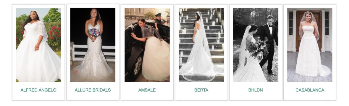 PreOwnedWeddingDresses.com Real Bride Gallery