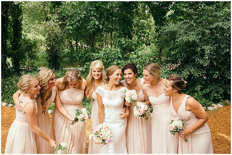 blush wedding attire