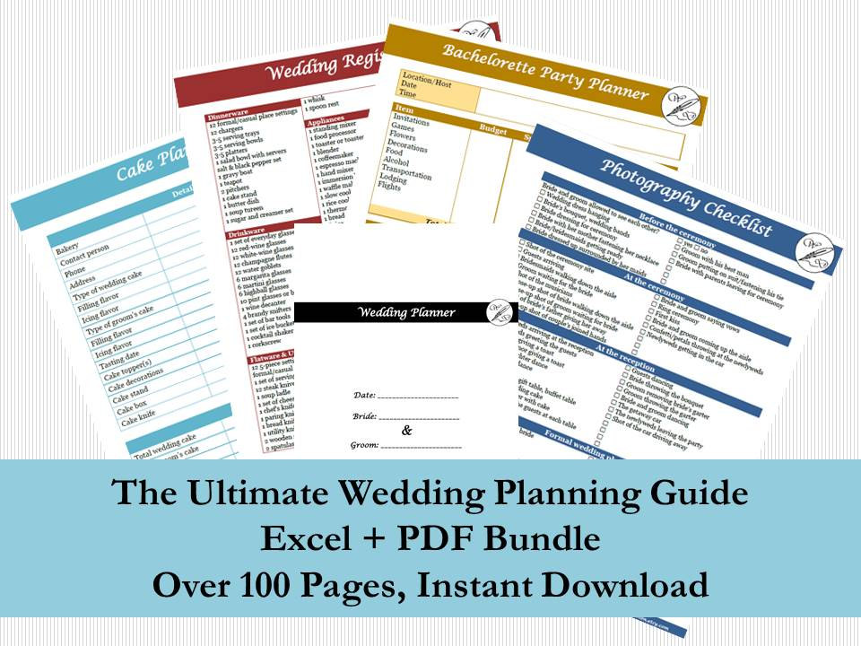 The Ultimate Wedding Planning Guide by WickedDesignsBoston on Etsy