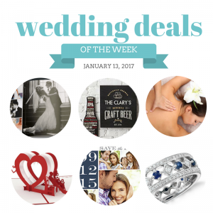 The Budget Savvy Bride's Wedding Deals for the Week of January 13, 2017