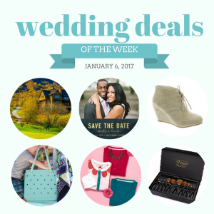 Budget Savvy Bride Wedding Deals for 1/6/17