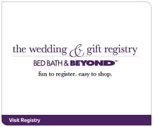 bed bath and beyond wedding registry