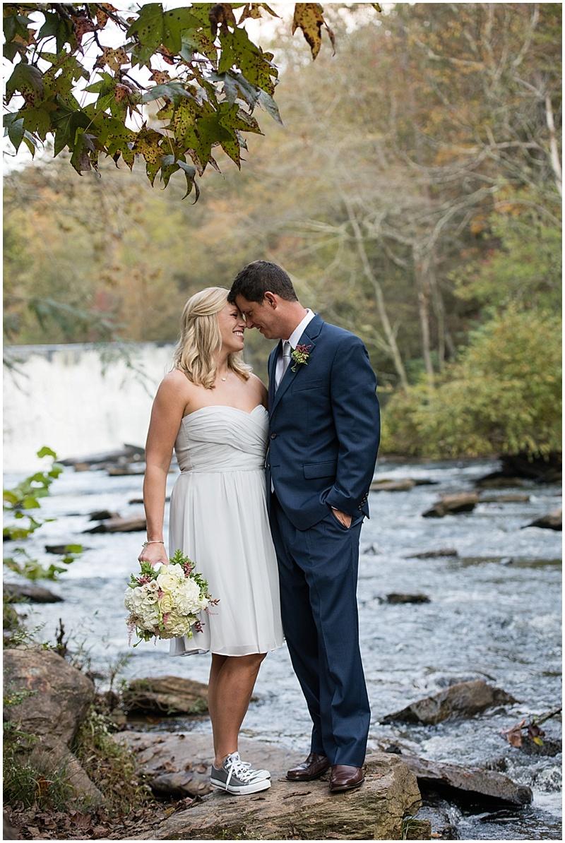 creek wedding photos