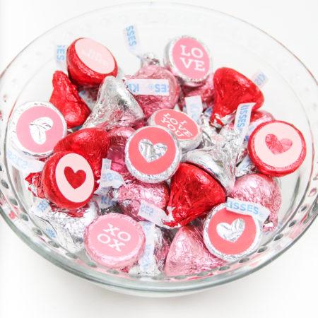 Valentine Hershey Kiss Stickers