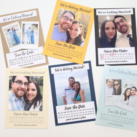 diy save the dates fujifilm instax