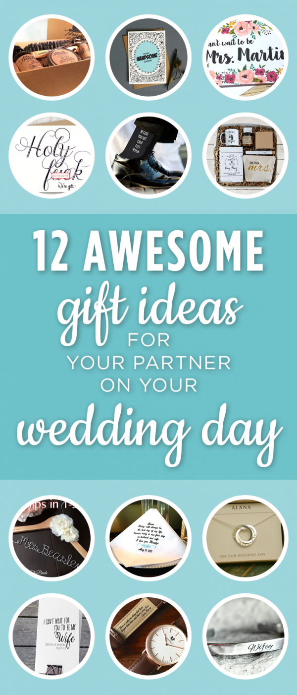 Looking for an extra special something to gift your fiance? Take a look at these 12 gifts for your partner, perfect for the day of your wedding.