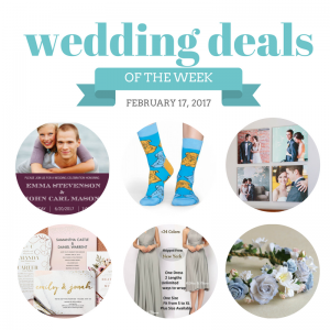 Check out The Budget Savvy Bride's Wedding Deals for the Week of February 17, 2017