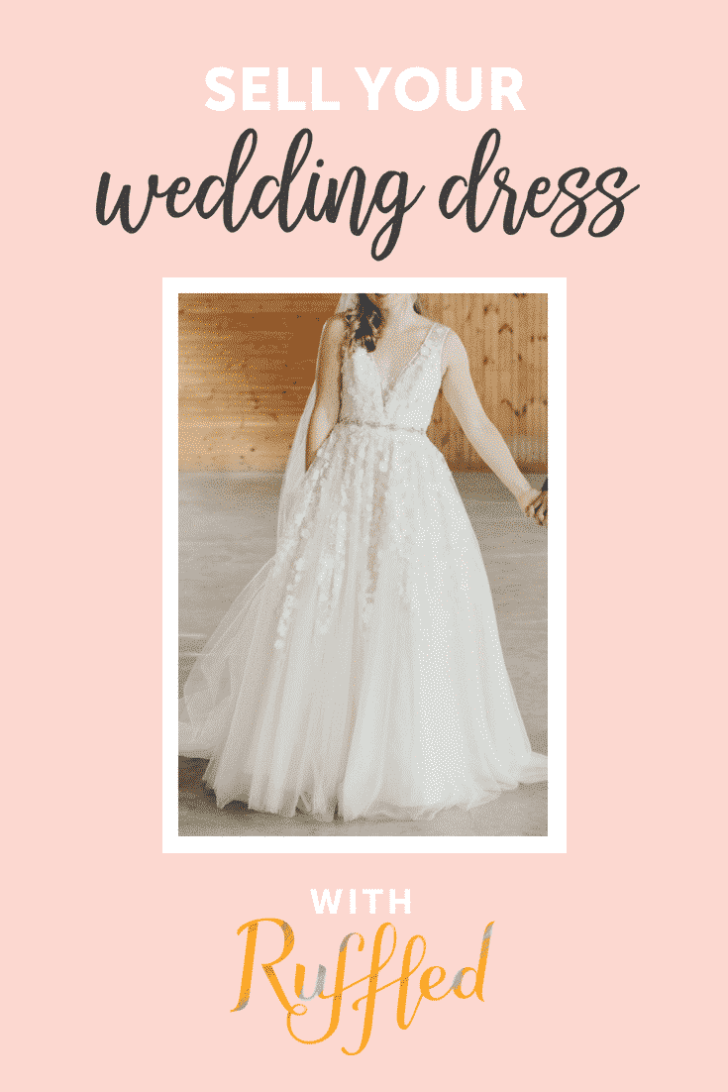 sell your wedding dress with ruffled