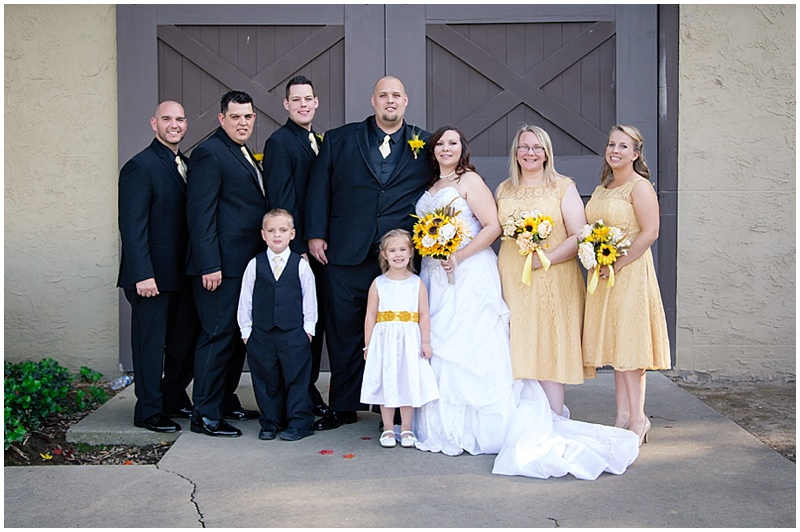 yellow and black wedding attire