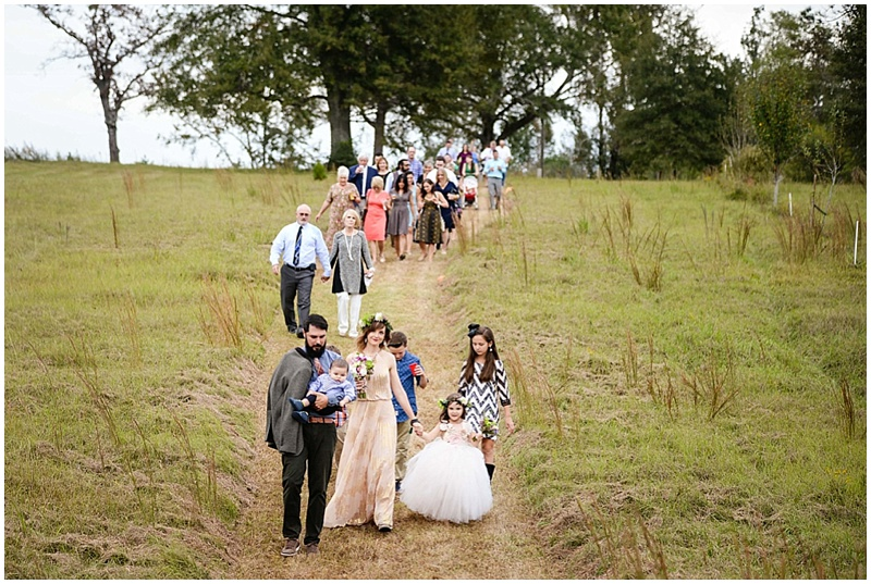 processional to wedding venue