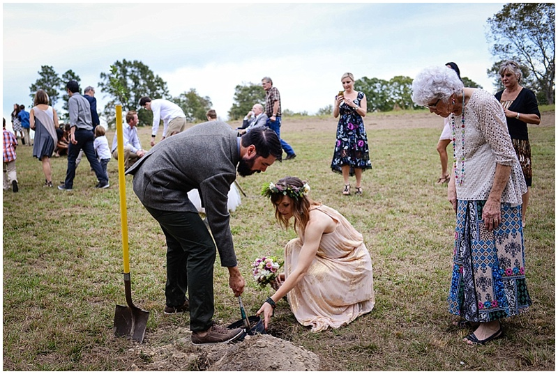 wedding tree planting