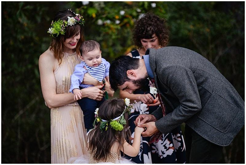 framily wedding ceremony