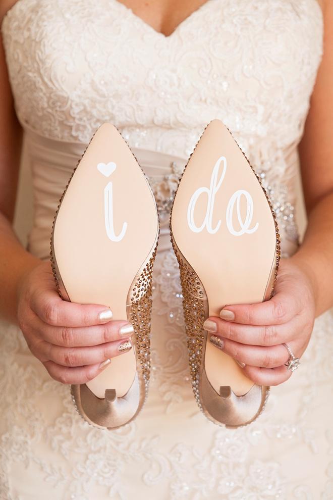 Something Turquoise DIY Wedding Shoe Stickers using Cricut Explore