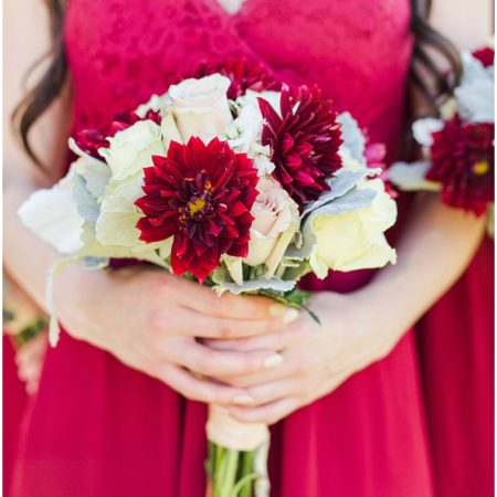 khaki and red wedding colors