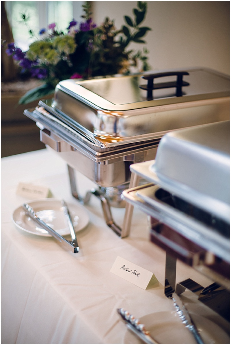 simple wedding reception food