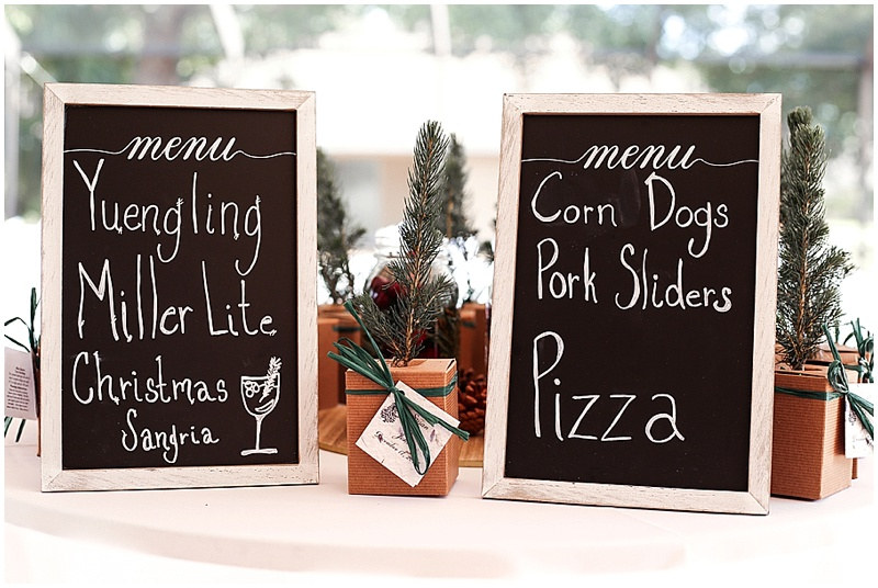 pizza wedding reception