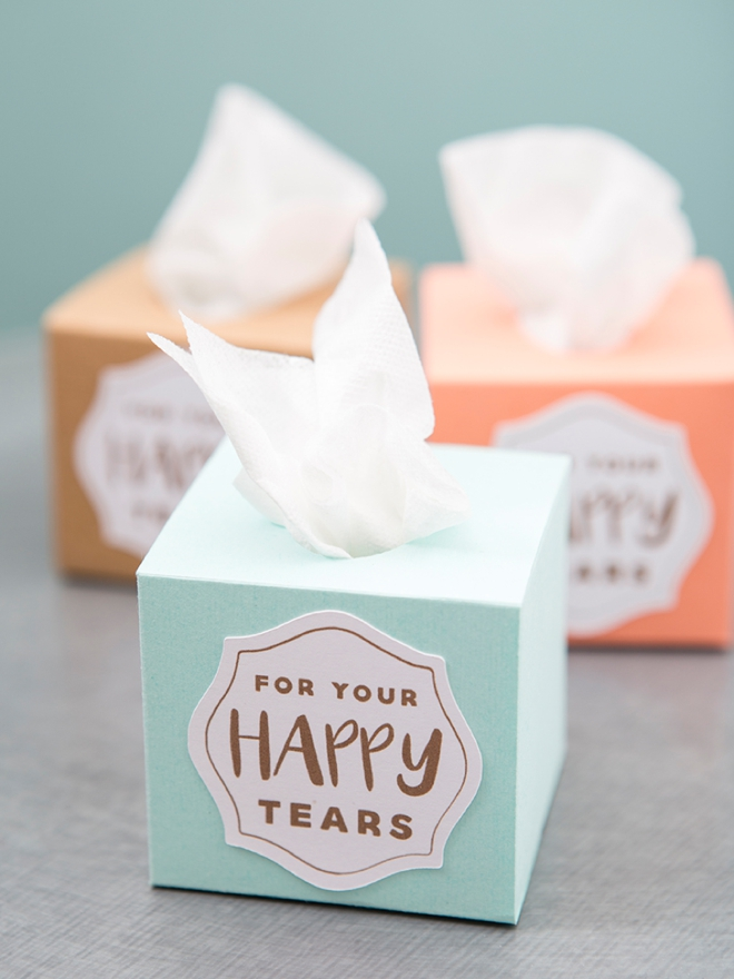 Something Turquoise - DIY Tissue Boxes for your wedding ceremony using Cricut Explore