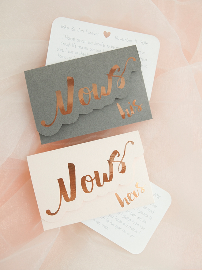 Something Turquoise - DIY Vow Notebooks