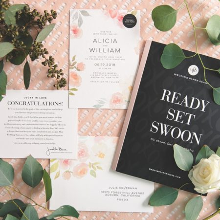 Get a free sample kit from Wedding Paper Divas