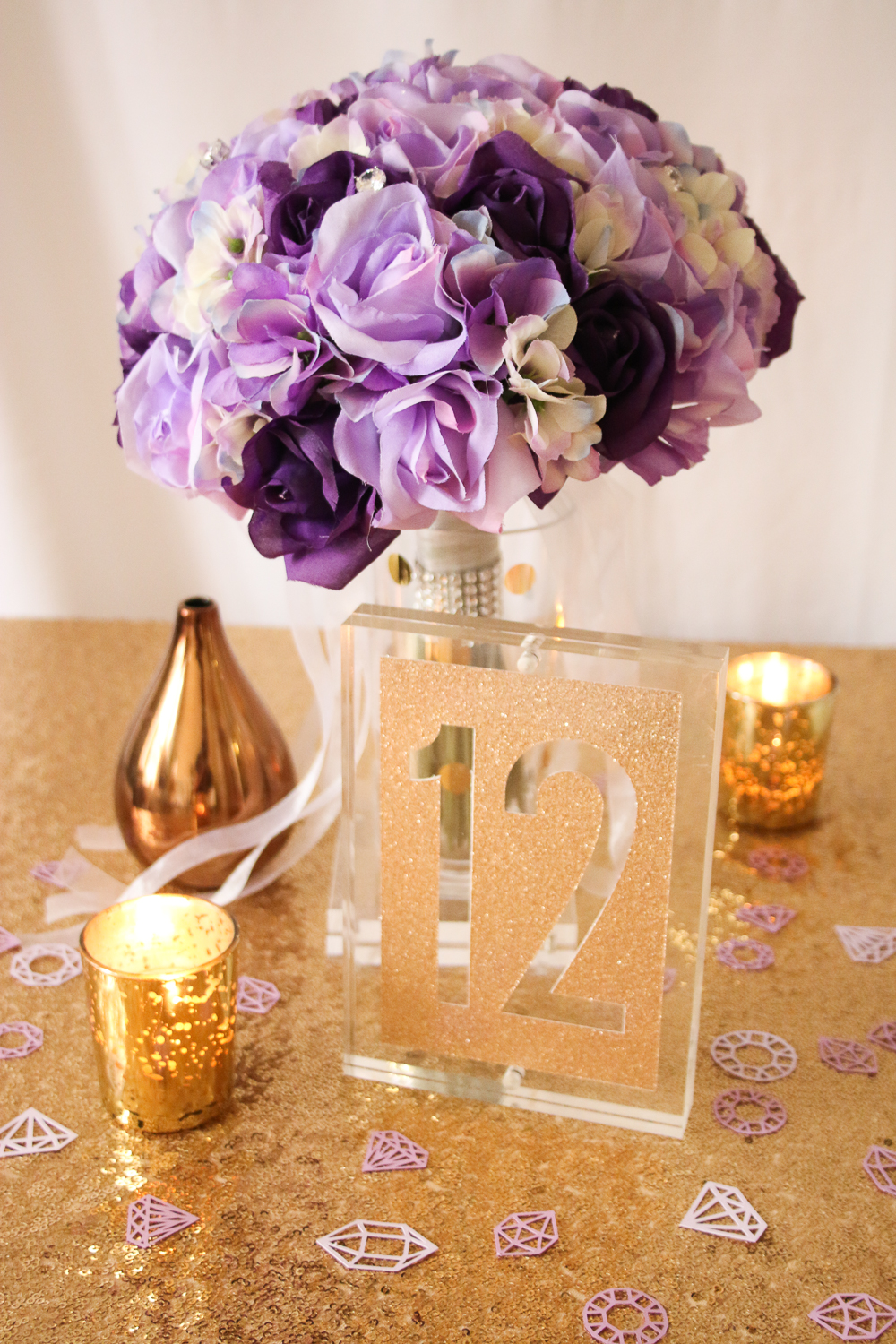 Acrylic Block Table Numbers using Cricut Explore via The Budget Savvy Bride