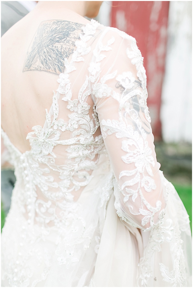 lace wedding photos