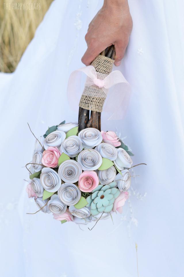 Cricut Tutorial : Make a Paper Wedding Bouquet