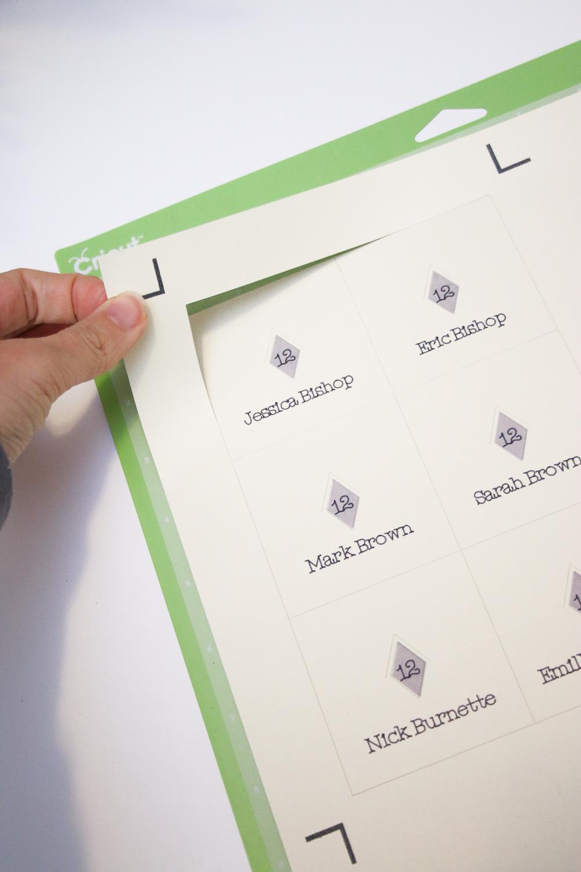 Cricut Diamond Pop Up Place Cards