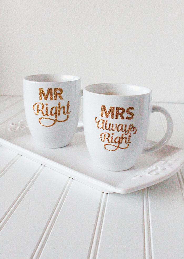 Hey Wedding Lady DIY Wedding Mugs using Cricut Explore