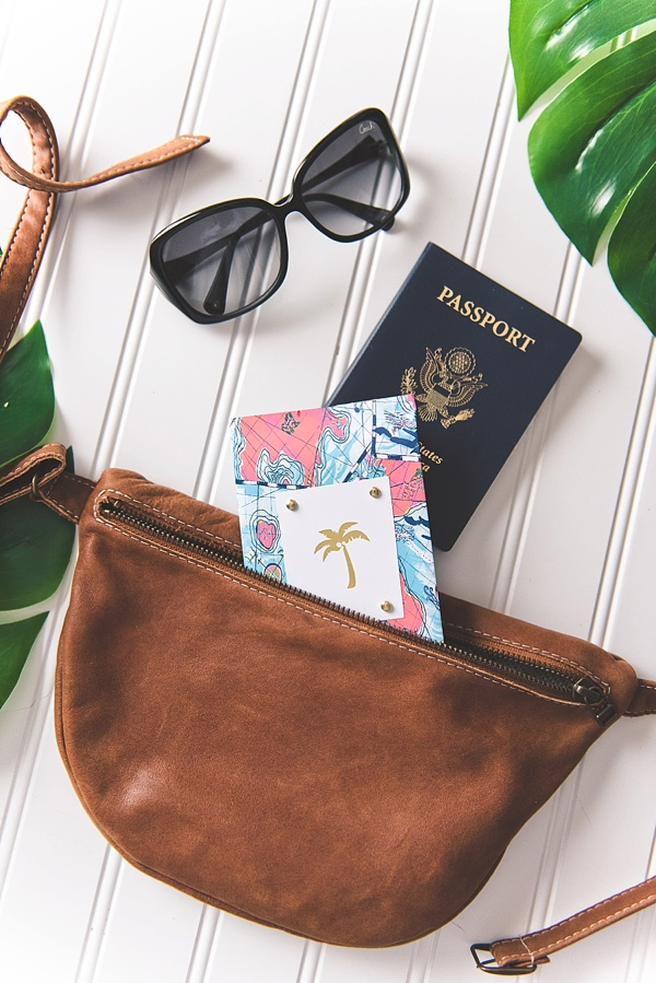 Tidewater and Tulle - DIY Passport Cover using Cricut Explore