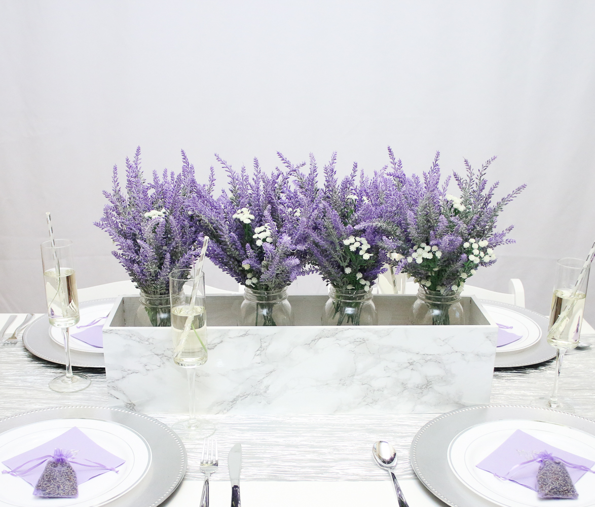 Marble and Lavender Wedding Inspiration featuring Oriental Trading ...