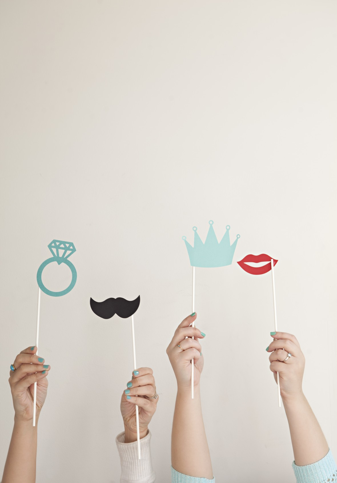 Something Turquoise and Budget Savvy Bride - Photo booth stick props using the Cricut Explore