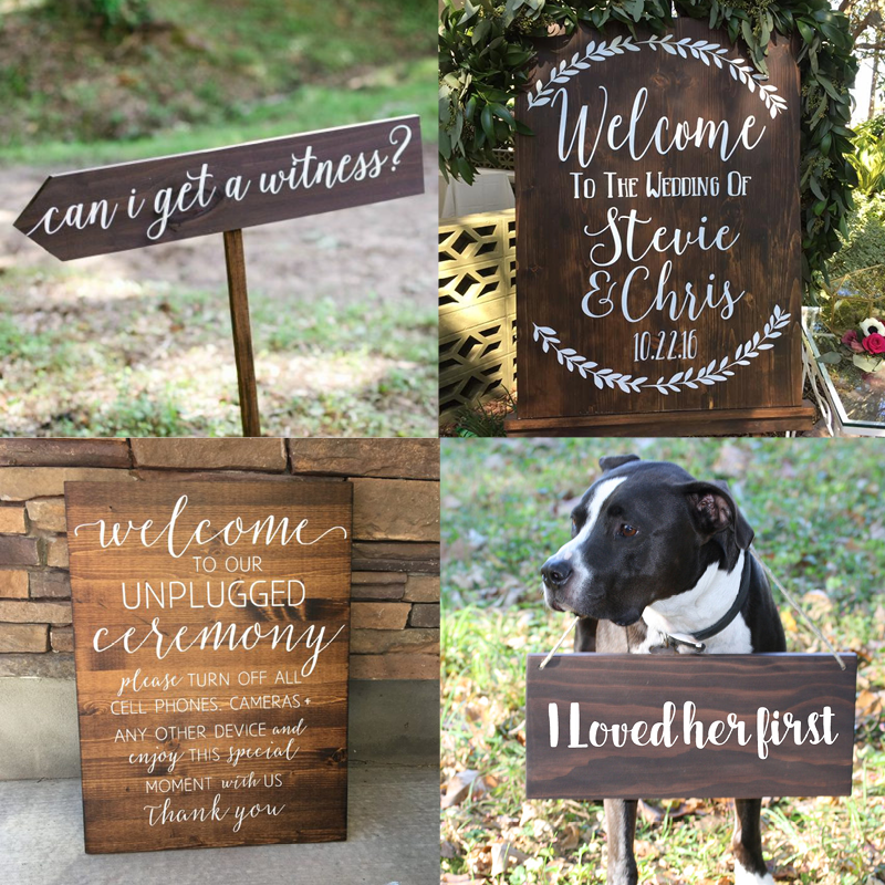 Adorable Wedding Signage from etsy!