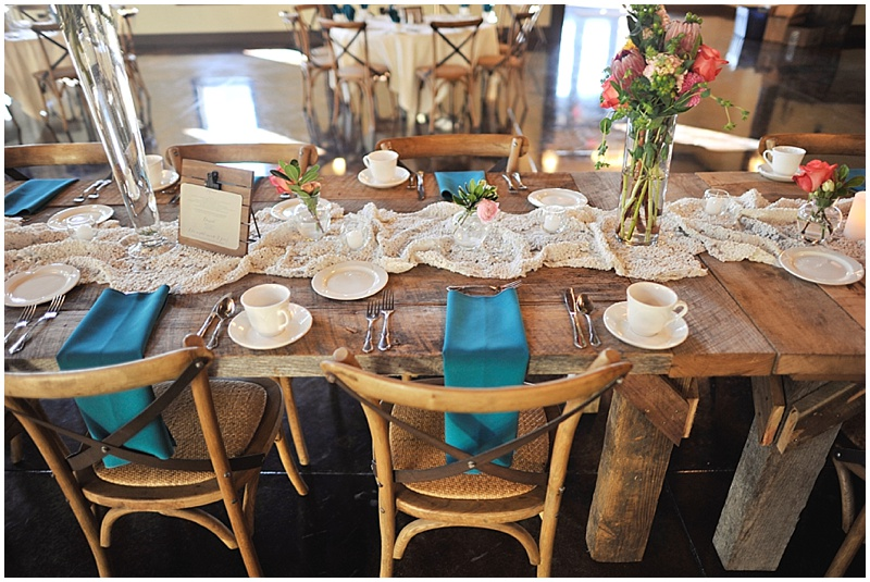 elegant and rustic wedding decor