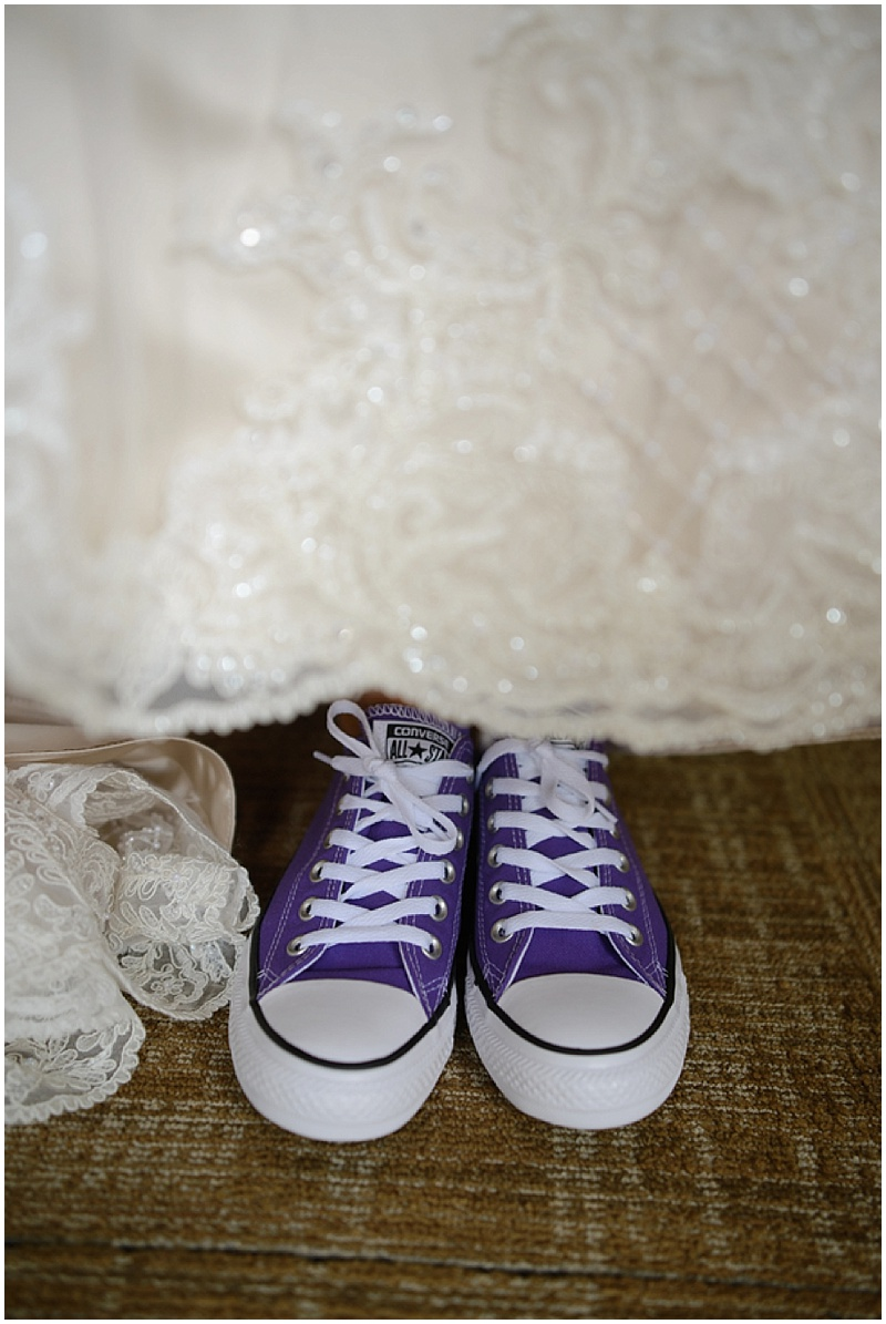 purple converse shoe