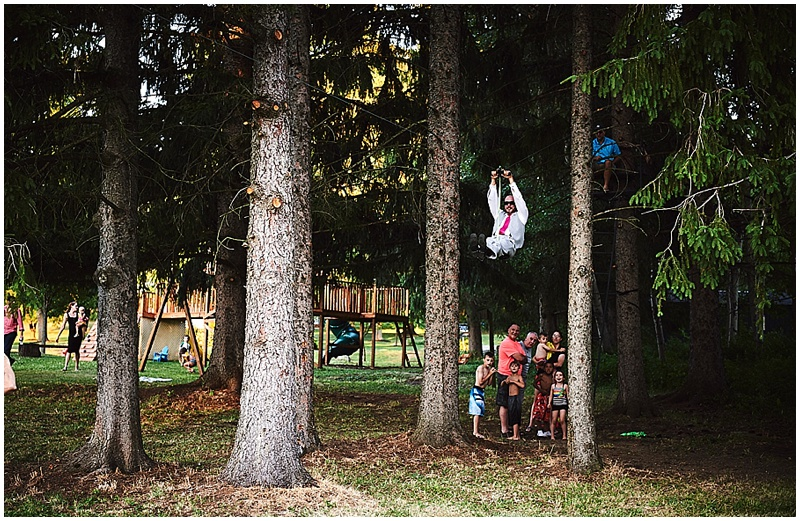 wedding zipline