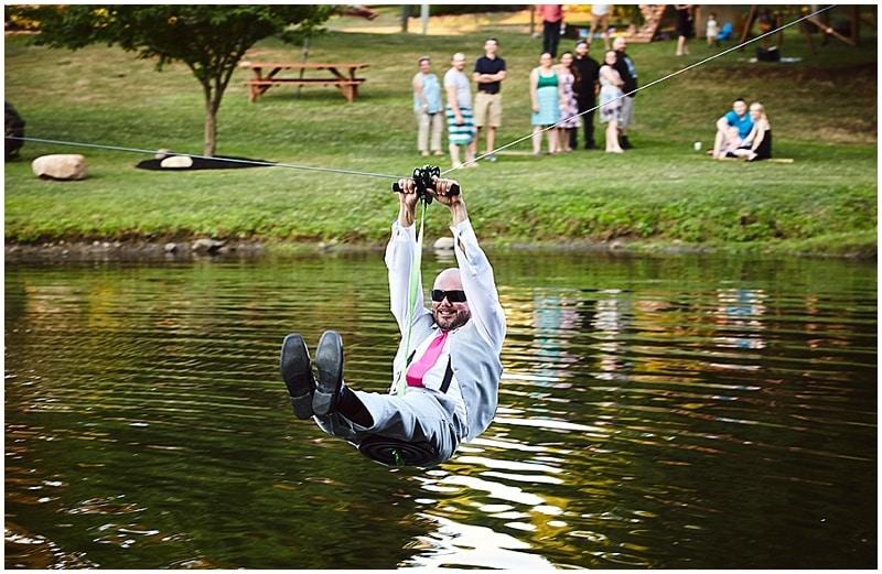 wedding zipline