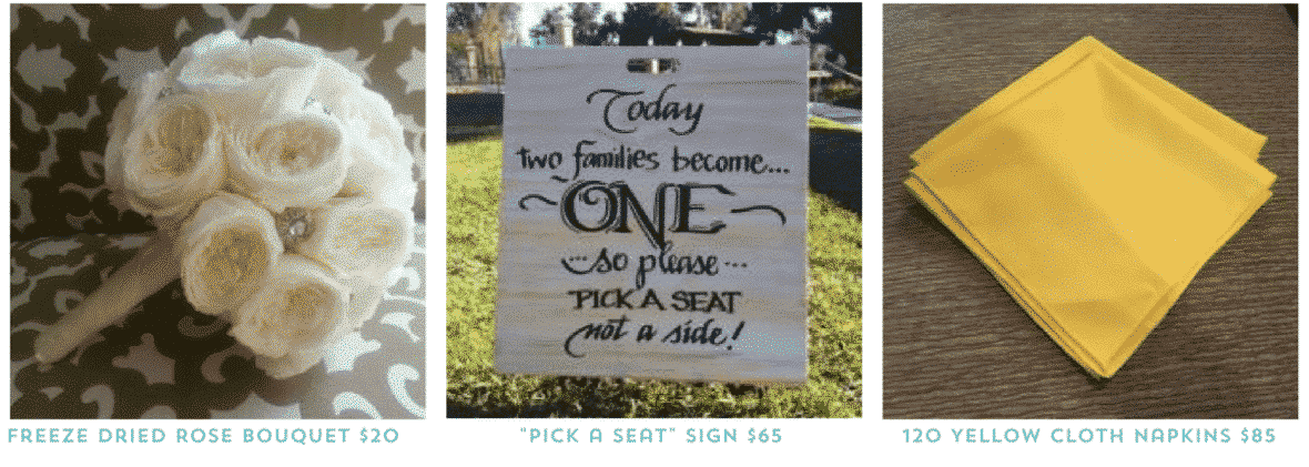 Where to buy and sell used wedding decor online examples of items for sale junglespirit Images