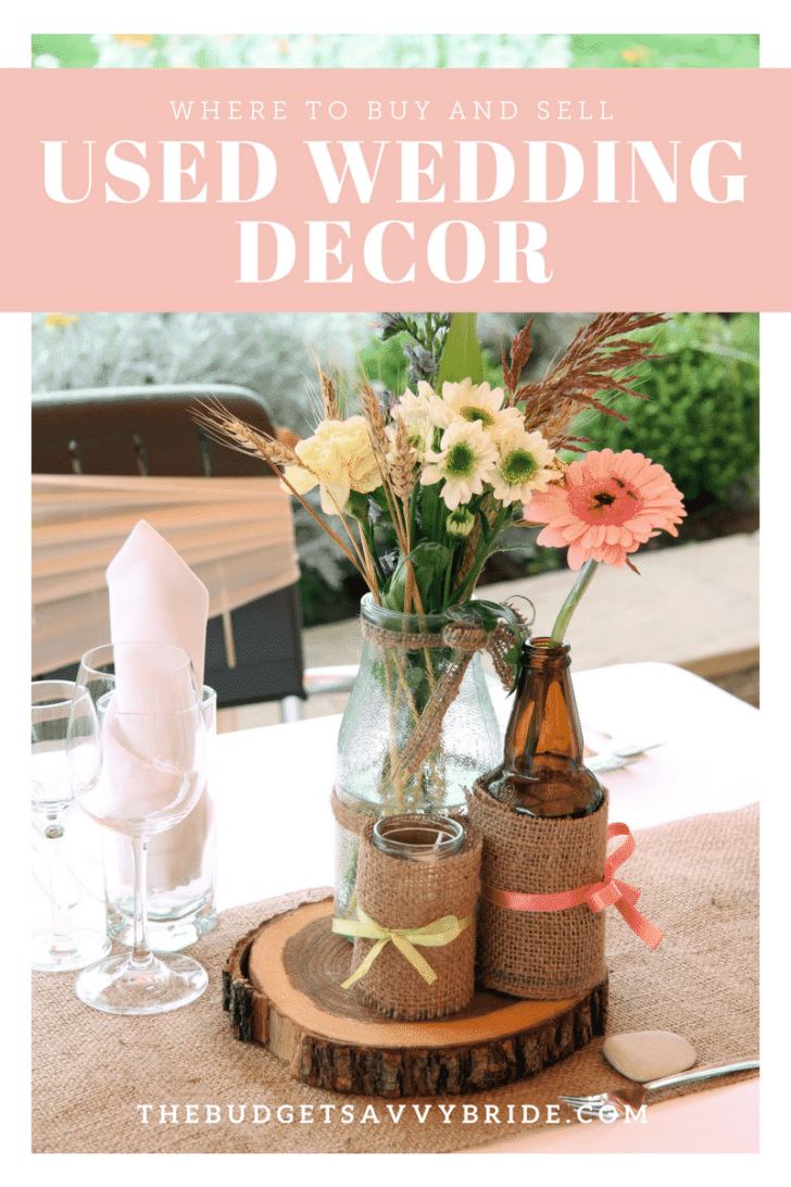 where to buy and sell used wedding decor