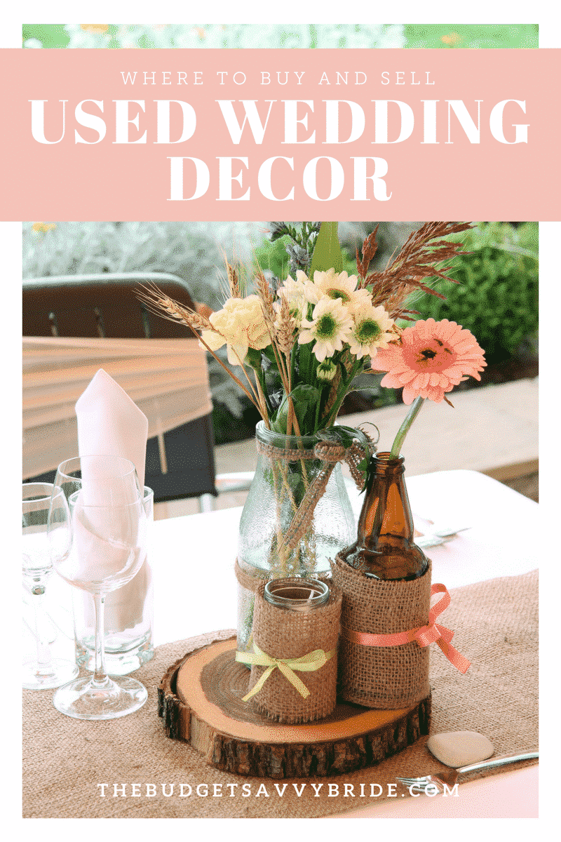 Looking to save big on your future wedding or re-coop some of the costs from your big day? Check out these resources for used wedding decor online!