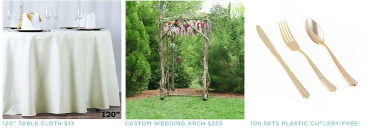 Check for used wedding items on facebook marketplace to save a bundle on your wedding decor!
