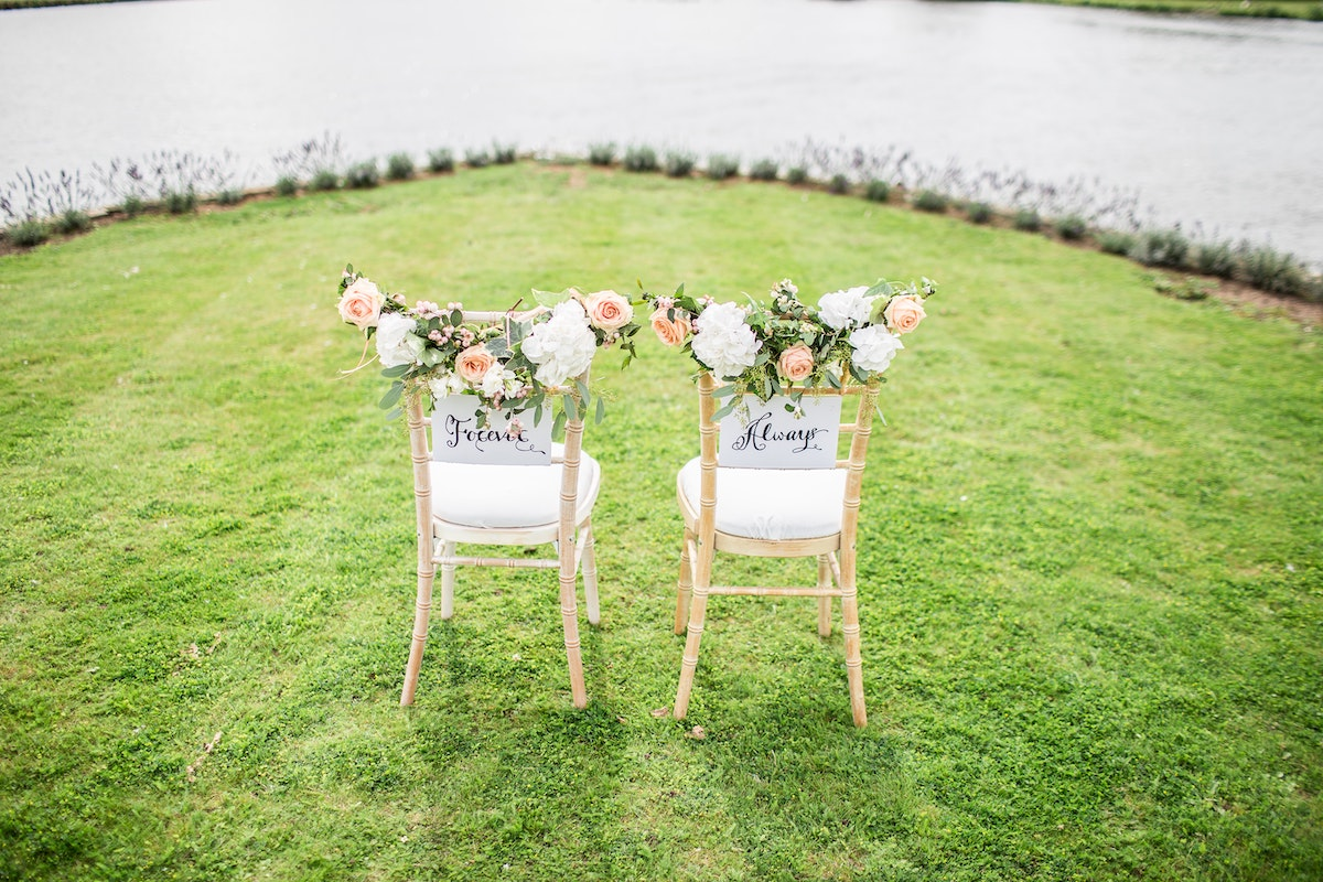 used wedding decor