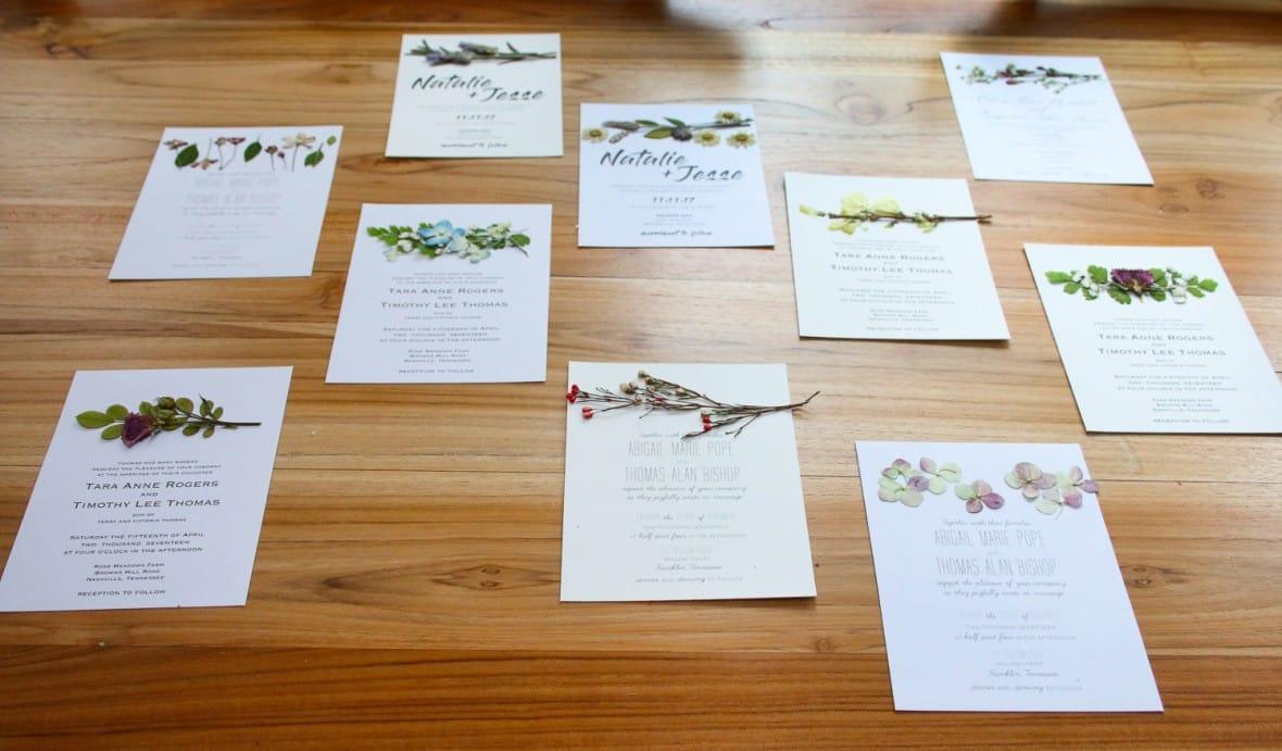 Pressed Flower Wedding Invitations